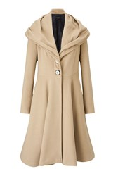 James Lakeland Fit And Flare Coat Beige