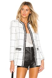 Alice Olivia Indira Fitted Jacket White