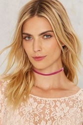 Panther The Question Velvet Choker Pink