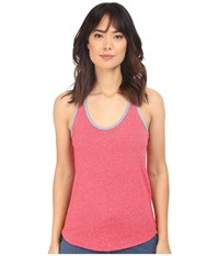 Alternative Apparel Eco Mock Twist Jersey Ringer Tank Top Eco Engine Red Women's Sleeveless Pink