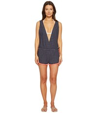 Emporio Armani Tessuto Romper Rigato Blue Navy Women's Jumpsuit And Rompers One Piece Black
