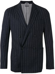 Giorgio Armani Striped Blazer Blue