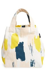 Maika Canvas Lunch Tote White Rhythm White