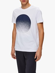 Selected Homme Graphic Print Cotton T Shirt Bright White