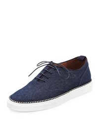 Tabitha Simmons Tate Denim Low Top Sneaker