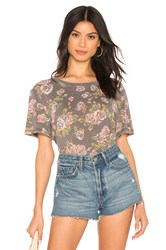 Free People Tourist Tee Gray