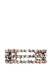 Erickson Beamon 'War Of The Roses' Swarovski Crystal Cuff White Metallic
