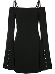 David Koma Metal Ball Long Sleeve Dress Women Polyester 8 Black