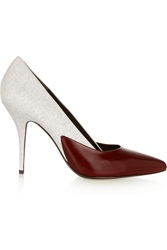 Alexander Wang Cicely Textured And Glossed Leather Pumps