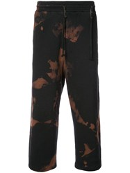 Damir Doma Printed Cropped Track Pants Black