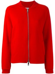 P.A.R.O.S.H. Zip Up Bomber Jacket Red