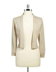 Calvin Klein Shimmer Open Front Cardigan Gold