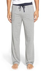Boss 'Balance' Pima Cotton And Modal Blend Lounge Pants Grey