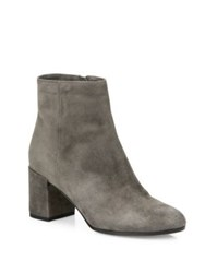 Vince Blakely Suede Block Heel Booties Steel