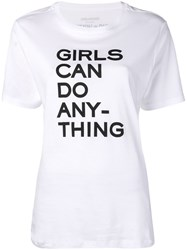 Zadig And Voltaire Girls Can Do Anything T Shirt White