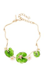 Oscar De La Renta Resin Lily Necklace Multi