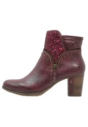 Mustang Ankle Boots Bordeaux