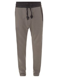 Rag And Bone Knox Cotton Jersey Track Pants Grey