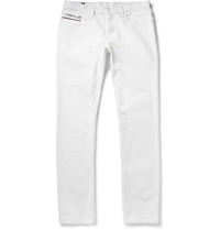 Gucci Regular Fit Cotton Jeans White