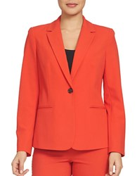 Chaus Solid Long Sleeve Blazer Crime Red
