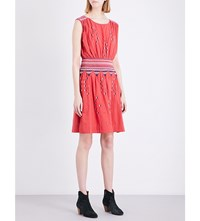 The Great Deco Embroidered Cotton Dress Bright Pink