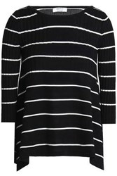 Bailey 44 Sumo Striped Ribbed Knit Sweater Black