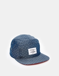 Icon Brand Chambray 6 Panel Strapback Cap Blue