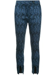 Manning Cartell Jacquard Cropped Trousers Blue