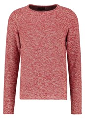 Jack And Jones Jorstake Knit Fit Jumper Rosewood Mottled Rose