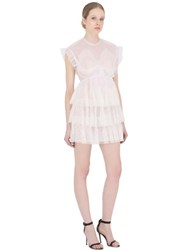 Francesco Scognamiglio Ruffled Sheer Tulle Mini Dress