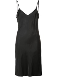 Organic By John Patrick Bias Cut Slip Dress Cupro Black