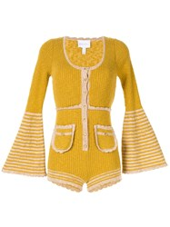 Alice Mccall Heaven Help Knitted Playsuit Yellow