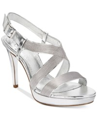 Adrianna Papell Anette Evening Sandals Women's Shoes Silver