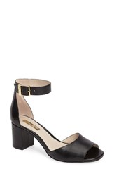 Louise Et Cie Women's Karisa Ankle Cuff Sandal Black Black Leather
