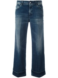 The Seafarer Cropped Flared Jeans Blue