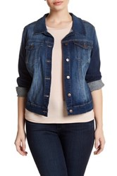 Jessica Simpson Pixie Long Sleeve Denim Jacket Plus Size Blue