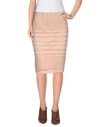 Selected Femme Knee Length Skirts Skin Color