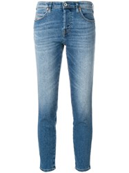 Diesel Distressed Cropped Skinny Jeans Blue