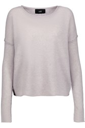 Line Cashmere Sweater Light Gray
