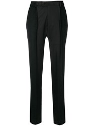 Moohong High Waisted Trousers Black