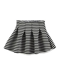 Molo Striped Pleated Ponte Circle Skirt Pink
