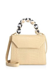 Nancy Gonzalez Lily Medium Cream Crocodile Satchel