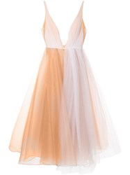 Alex Perry Joia Plunge Tulle Dress White
