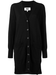 Maison Martin Margiela Mm6 Loose Fit Elongated Cardigan Black
