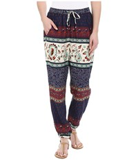 Roxy Sunday Noon Pant Tiered Paisley Eclipse Women's Casual Pants