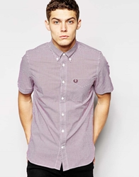 Fred Perry Shirt In Gingham Check Short Sleeves