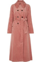 Alexachung Cotton Blend Corduroy Trench Coat Pink