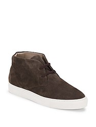 Saks Fifth Avenue Official Leather Chukka Boots Chocolate