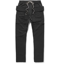 Rick Owens Cotton Blend Faille Trousers Black