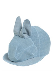 Francesco Ballestrazzi Bunny Cotton Denim Baseball Hat